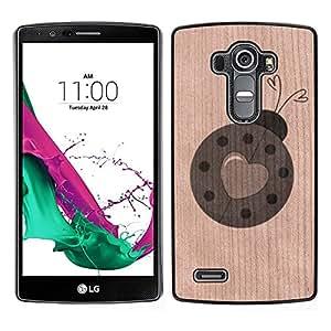 - Valentines Heart Ladybird Spring Love - - Funda Delgada Cubierta Case Cover de Madera FOR LG G4 H815 H810 F500L BullDog Case