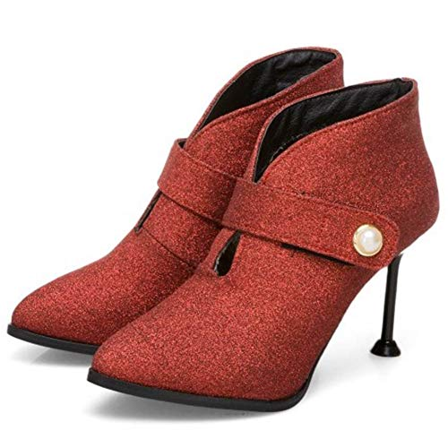 Pointed Women Red Toe Ankle High Bootie Fashion TAOFFEN AqdpxEE