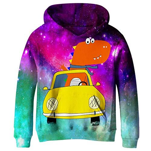 Gold Kangaroo Hoody Sweatshirt - SAYM Big Girls Galaxy Fleece Pockets Sweatshirts Jacket Pullover Hoodies NO14 S