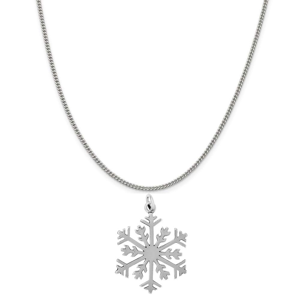 16, 18 or 20 Chain Raposa Elegance Sterling Silver Snowflake Charm Necklace