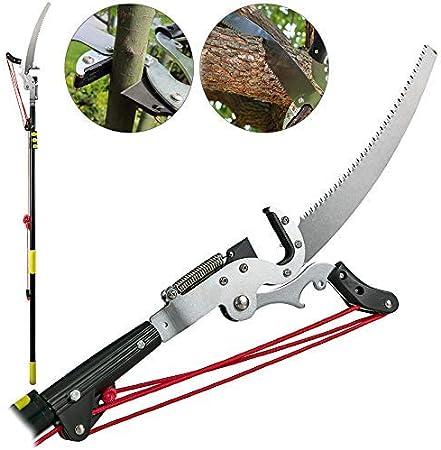 "Tree Branch Pruner 14/' Pole Steel 15/"" Saw Blade Limb Cut Trimmer Adjustable Yard"