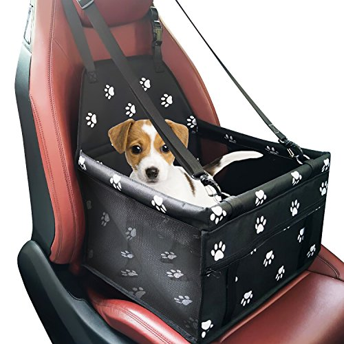 Pet Car Booster Seat Carrier,Portable Foldable Pet Car Seat Cover Carrier with Seat Belt for Dog Cat Puppy Kitty up to 25lbs 511Qb9Jtk6L