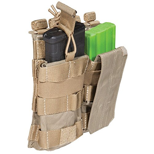 5.11 AR Bungee/Cover Double Magazine Pouch, Sandstone
