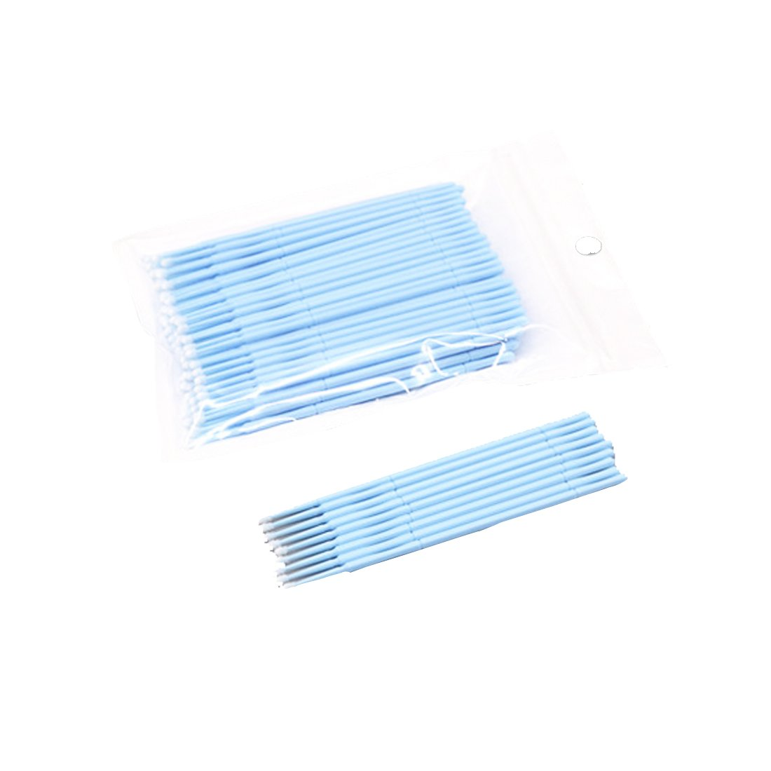 Lint Free Disposable Eyelash Extension Applicators Micro Individual Makeup Brush Durable Mascara Removing Swab 100pcs/pack iHen-Tech
