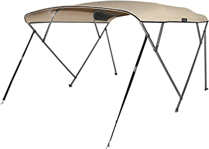 """BIMINI TOP BOAT COVER CANVAS FABRIC BURGUNDY W//BOOT FITS 4BOW 96/""""L 54/""""H 85/""""-90/""""W"""