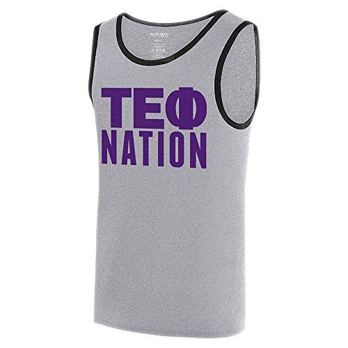 (Greekgear Tau Epsilon Phi Fraternity Nation Ringer Tank Small Athletic Heather/Black)