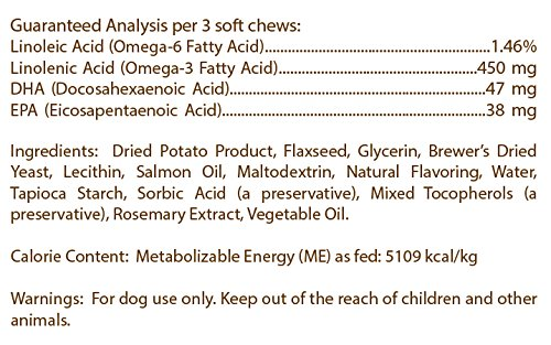 Healthy Breeds Clean Salmon Oil Soft Chews for Dogs for Toy Fox Terrier - Over 200 Breeds - Omega 3 & 6 EPA DHA Fatty Acid Support - Easier Than Capsules & Pumps - 90 Chews by Healthy Breeds (Image #3)