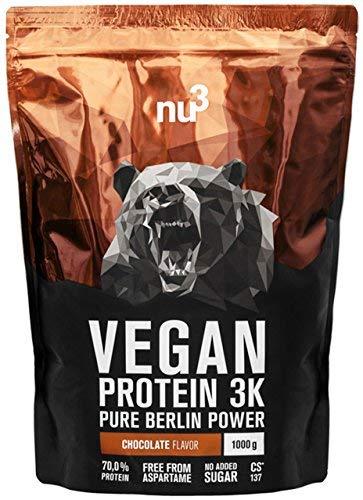 nu3 - Proteína vegana 3K - 1kg de fórmula - 70% de proteína a base