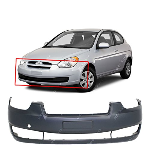 MBI AUTO - Primered, Front Bumper Cover Fascia for 2006-2010 Hyundai Accent 06-10, HY1000163