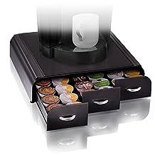 Mind Reader Anchor Coffee Pod Storage Drawer for 36 Keurig K-Cup, 42 CBTL/Verismo Coffee Pods, Black