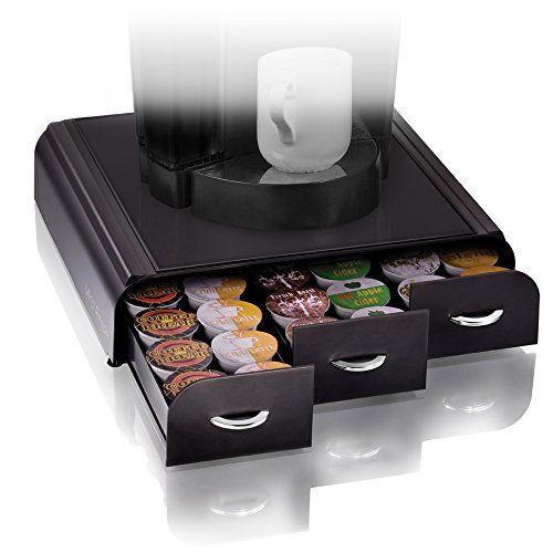 mind-reader-anchor-triple-drawer-single-serve-coffee-pod-holder-with-free-milk-frother-included-blac