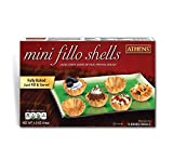 Athens Mini Fillo Dough Shells 1.9 Oz [54g] (2-Packs, 15 Shells/Pack)