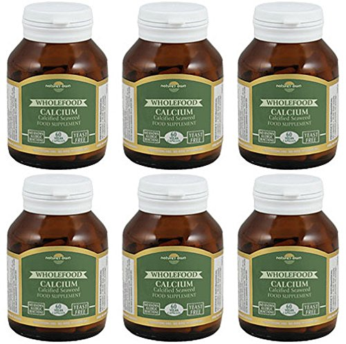 (6 PACK) - Natures Own - Wholefood Calcium 200mg | 60's | 6 PACK BUNDLE by Nature's Own