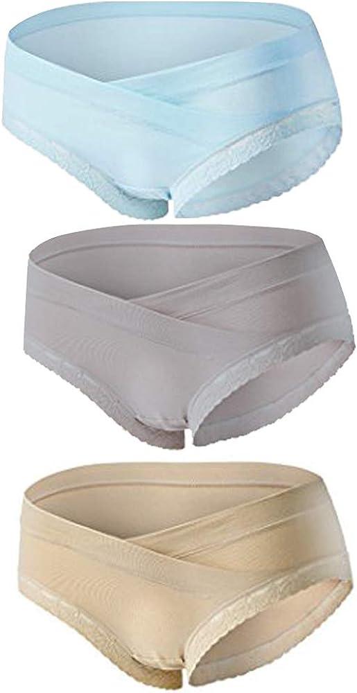 Women Postpartum Briefs Under The Bump Cotton Panties//Nursing Underwear 3 Pack BOZEVON Maternity Pregnancy Knickers