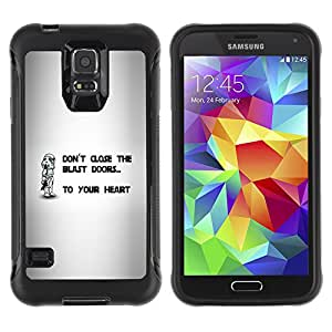 ZAAAZ Rugged Armor Slim Protection Case Cover Durable Shell - Don't Close The Blast Doors - Samsung Galaxy S5