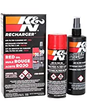 K&N Filters Filter Care Service Kit 6.5oz Aerosol & 12oz Spray Bottle of Power Kleen (99-5000)