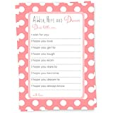 Coral Wishes for Baby Girl Shower Game Advice Cards