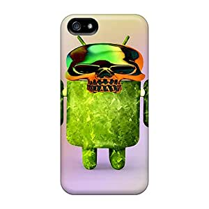 New Style MooVers Skulldroid Premium Tpu Cover Case For Iphone 5/5s