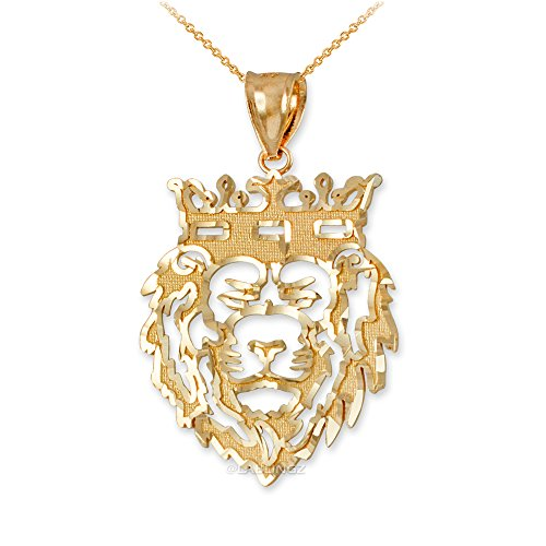 Hip-Hop Jewelry by LA BLINGZ 10K Yellow Gold Lion King Charm DC Necklace (16) by Hip-Hop Jewelry by LA BLINGZ