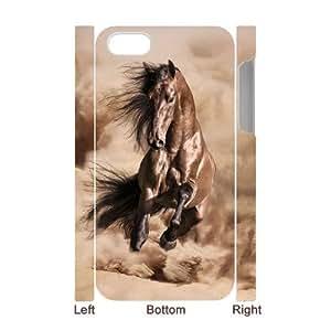 Diy Running Horse Custom Cover Phone Case for iPhone 5c 3D Shell Phone DANGDANG(TM) [Pattern-1]