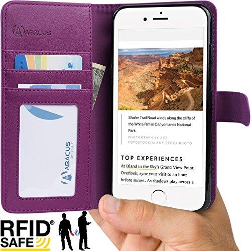 Abacus24 7 iPhone Wallet Blocking Purple