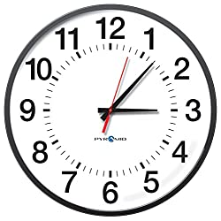 Pyramid 17 RF Wireless 12-Hour Analog Clock, Battery Operated (S9A7AAGBXB)