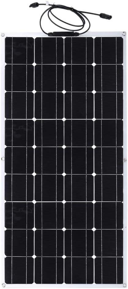 Happystore999 Panel Solar monocristalino, 100 W, Panel Solar portátil Flexible, módulo de energía Solar Flexible para Furgoneta, Barco, casa, jardín, ...