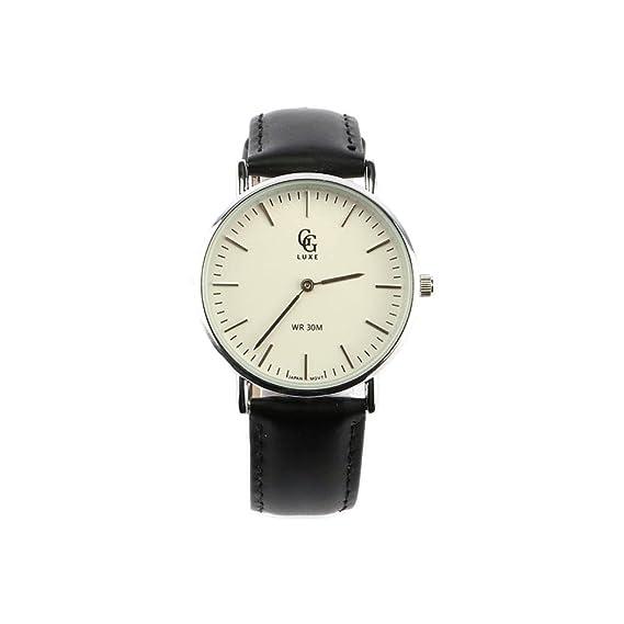 GG Luxe – Reloj Mujer Pulsera Cuero Negro Nelsy