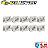 10pc Exell 411A Alkaline 15V Battery Replaces NEDA 208, 10F20, BLR121
