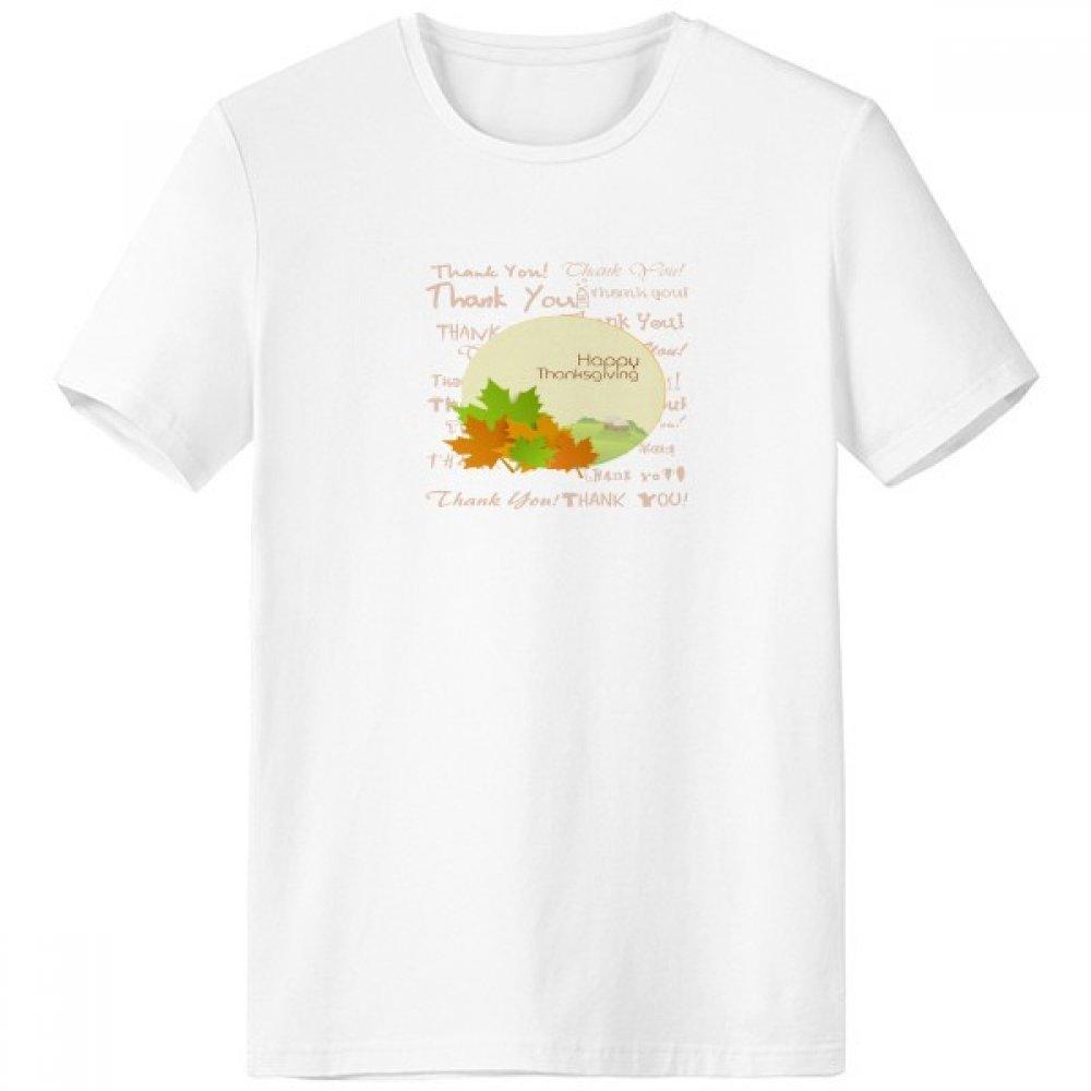 DIYthinker Escote de Acción de Gracias Feliz del patrón de Dibujos Animados Día de la Camiseta Blanca de Primavera y Verano de Tagless Comfort Deportes Camisetas de Regalos - Multi - XL sku00490527b3443f33170-XL