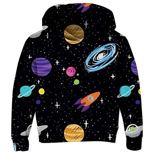 RAISEVERN Little Boy's Hoodie Cosmic Planet Design Hoodies Funky Novelty Sweatshirt Hipster Pullover Hoody Clothes