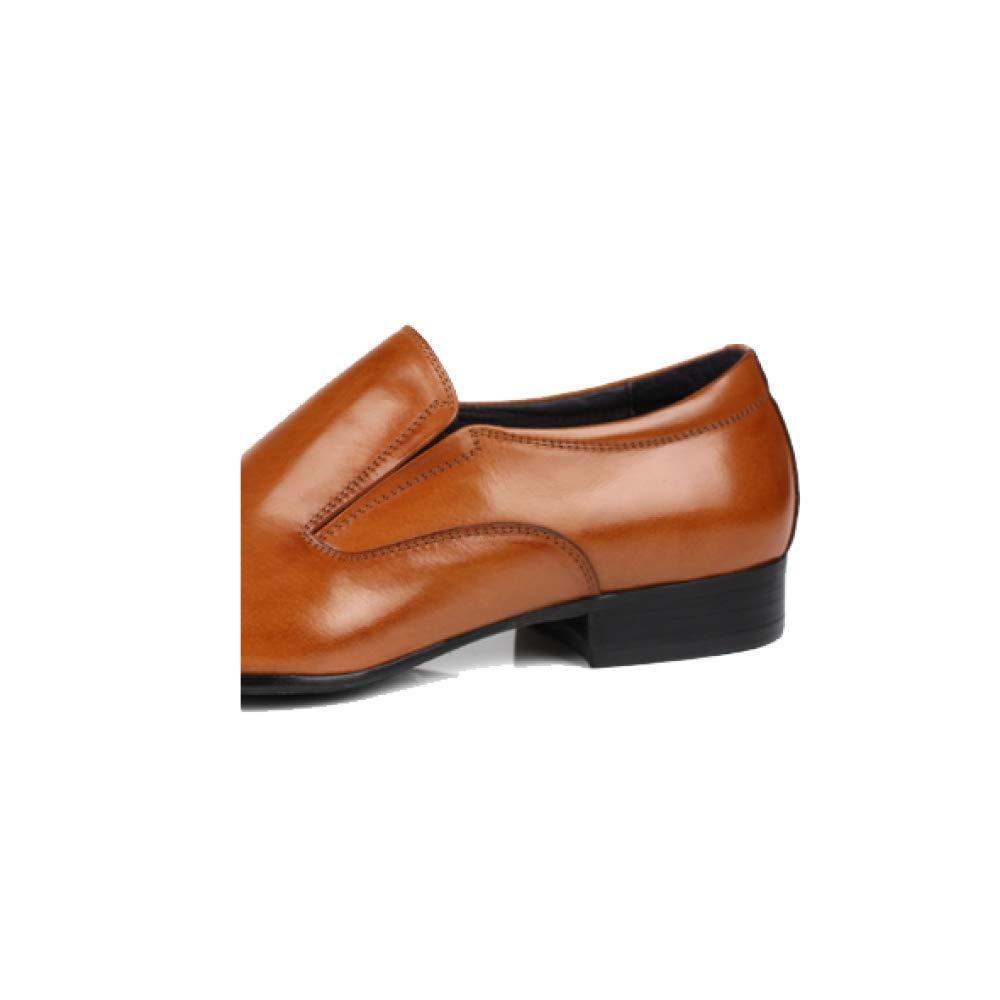 Männer Lederschuhe Koreanische Atmungsaktive Version Trend Wies Geschäft Atmungsaktive Koreanische Niedrig Top Schuhes Yellow 48dbe2