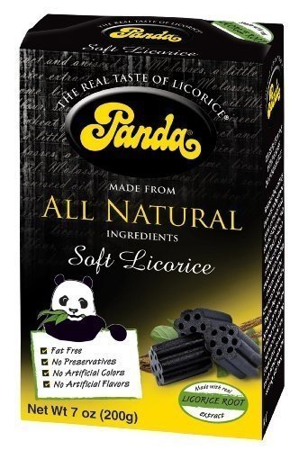 Panda All Natural Soft Licorice Chew 198 gm (Pack of 12) ( Value Bulk Multi-pack)