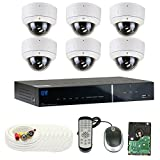 GW Security 8 Channel Tribrid DVR 2.1 Megapixel HD-TVI 1080P Security Camera System with (6) x True HD 1080P Waterproof 2.8-12mm Varifocal Zoom Dome Security Camera For Sale