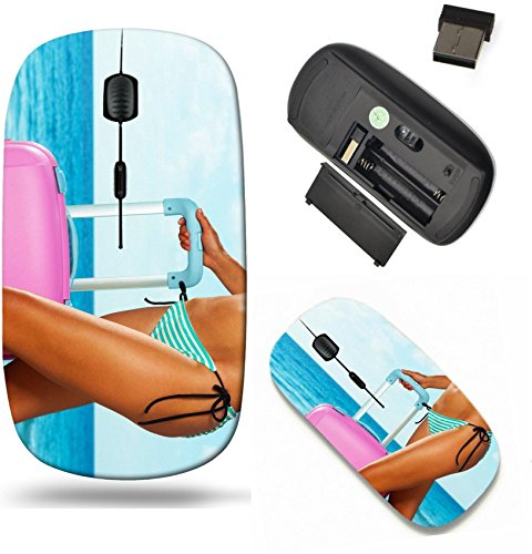 Liili Wireless Mouse Travel 2.4G Wireless Mice with USB Receiver, Click with 1000 DPI for notebook, pc, laptop, computer, mac book Close up of hot woman body with pink luggage (Hot Bodies Receiver)