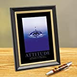Successories Attitude Drop Framed Desktop Print