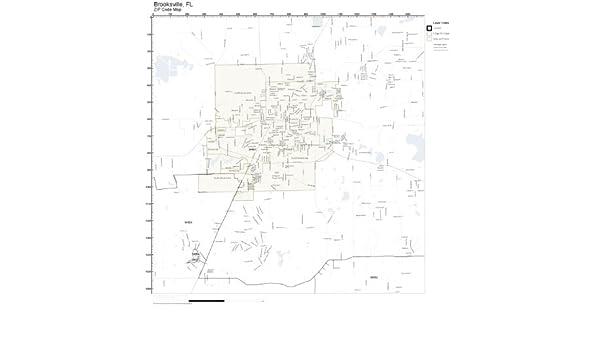Amazon Com Zip Code Wall Map Of Brooksville Fl Zip Code Map Not