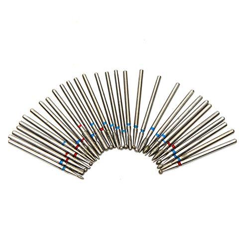 Ferrell 30Pcs/Set Nail Art Drill Bit Diamond Milling Rotary