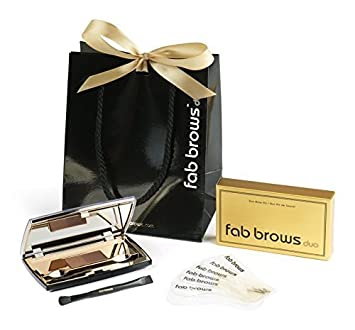 Fab Brow Duo Eyebrow Kit and Stencil Set Slate Black