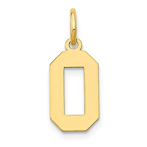 5e25bf77b99 14k Yellow Gold Small Number 0 Pendant Charm Necklace Sport Fine Jewelry  Gifts For Women For Her: ICE CARATS: Amazon.ca: Jewelry