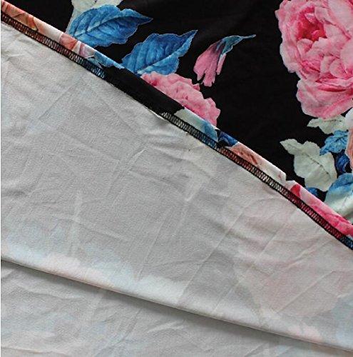 Femmes Coolred Grand Ourlet V Long Cou Robe Maxi Enveloppé Poitrine Manches As1