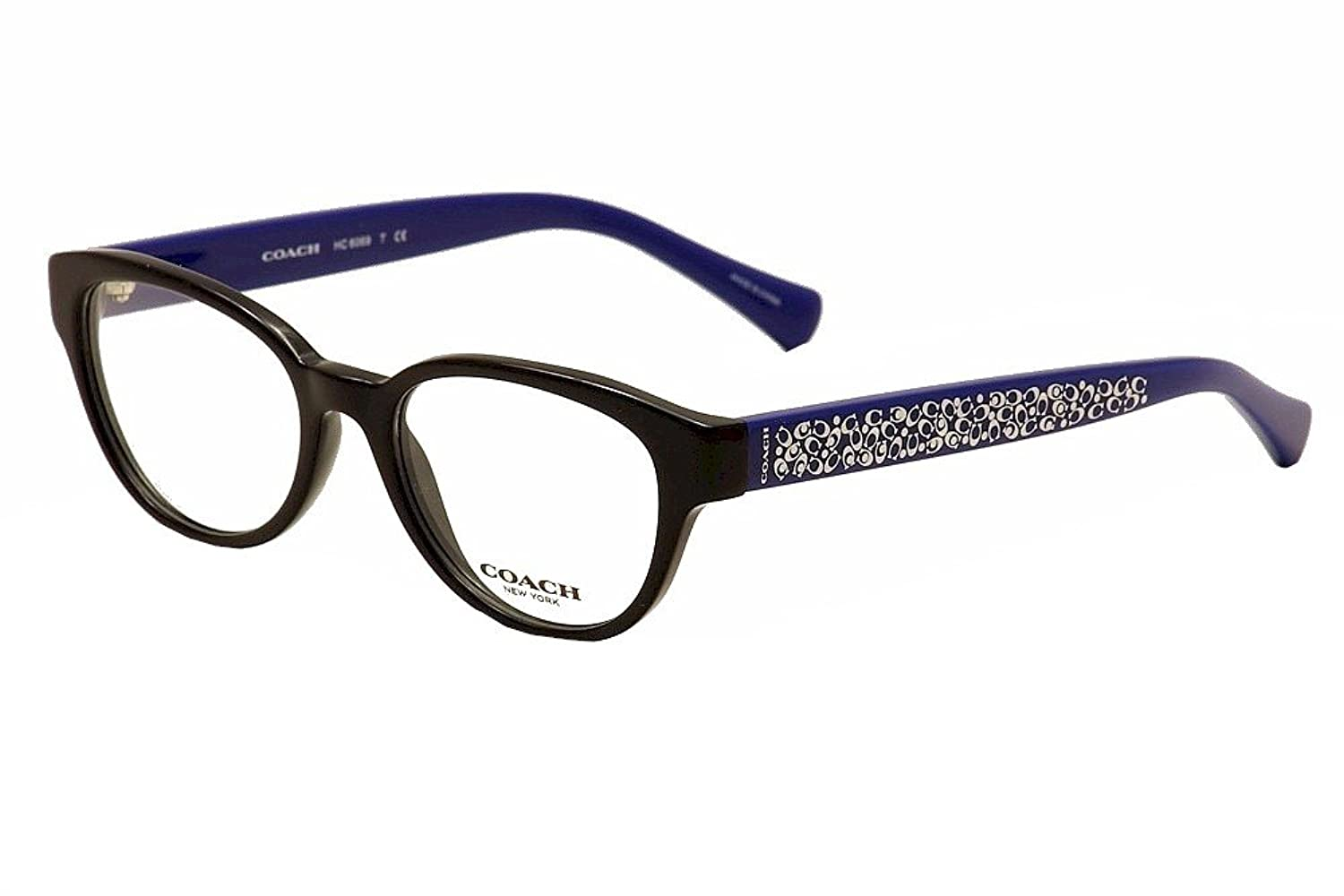 COACH Eyeglasses HC 6069 5282 Black/Blue 51MM at Amazon Women\'s ...