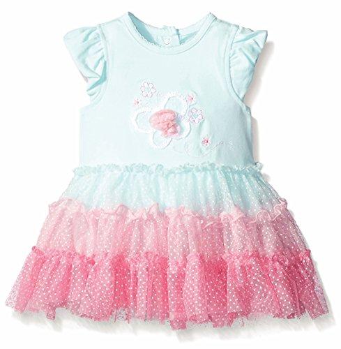 Little Me Tutu Popover for Baby Girls (3 Months, Aqua)
