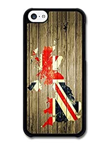 TYHde AMAF ? Accessories British Flag UK Map Wood Background case for iPhone 6 plus 5.5 ending Kimberly Kurzendoerfer