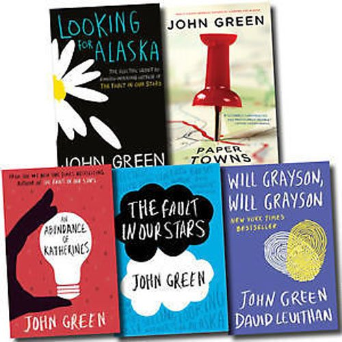 By John Green - John Green - The Collection: The Fault in Our Stars / Looking for Alaska / Paper Towns / An Abundance of Katherines and Will Grayson