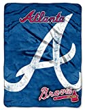 Atlanta Braves 46'' X 60'' Micro Raschel Throw Blanket - Triple Play Design
