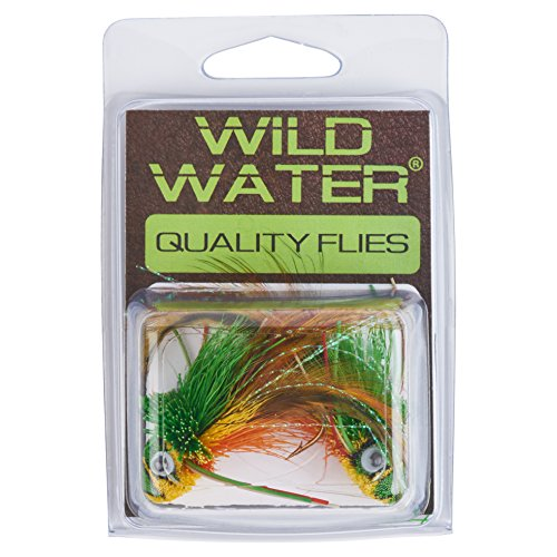 (Wild Water Green and Yellow Deer Hair Diver, Size 2, Qty. 2)