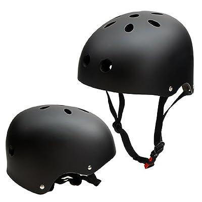 Casque de Skateboard, SymbolLife Casque de Vélo et Véhicule Casque de Ski enfant ABS Protections de Réglable Protecteur de Cyclisme BMX Roller pour Adolescent Adulte, Taille L / M / S