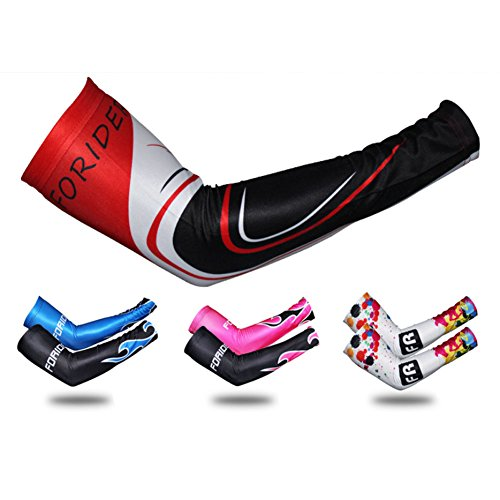 1 Pair of KINGSR Cycling Arm Warmers Cuff Sleeve Covers UV Sun Protection