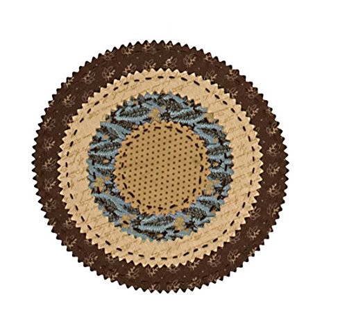Park Designs Scrapbook Collection - Round Placemat 10 inch - Placemats Collection